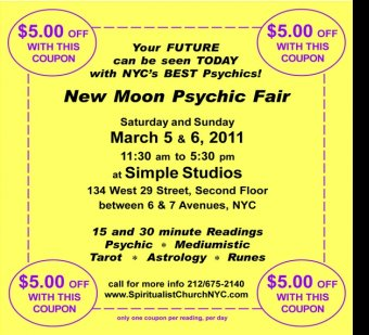This weekend new moon psychic fair holistic studies for 1271 6th avenue 35th floor new york ny 10020