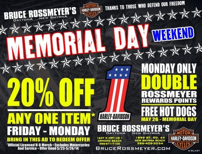 Memorial Day Weekend At Bruce Rossmeyer S Daytona Harley Davidson