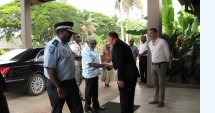 APCSS Dean welcomes the Vanuatu Prime Minister