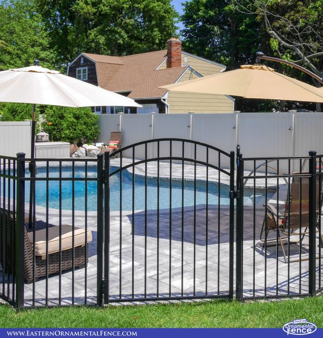 eastern ornamental aluminum accent gate for pool fence