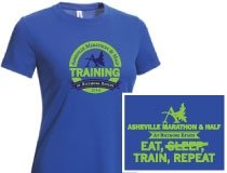 Official Asheville Marathon & Half Training tees