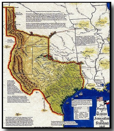 Everyone Wasn T Happy About Texas Becoming A State The Mexican Minister Warned The U S That His Nation Would Consider Annexation An Act Of War