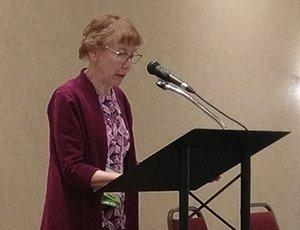 Dr. Helena Dittmer presenting the 2017 CAMWS Bolchazy Pedegogy Award