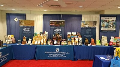 B-C book display at 2017 Medieval Congress Kalamazoo Michigan
