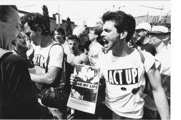 ACT UP brings art to the picket line