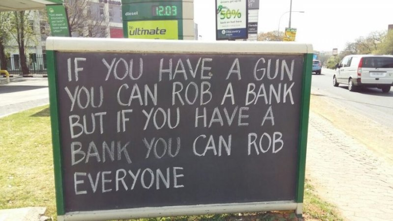 Message from your local bank