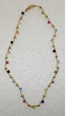 Marco Bicego Mixed Gemstone Necklace available at the WNCAP Raise Your Hand Auction & Gala.