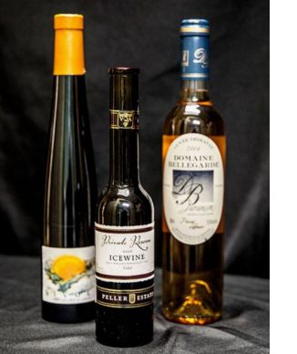 Three dessert wines available at the WNCAP Raise Your hand Auction & Gala