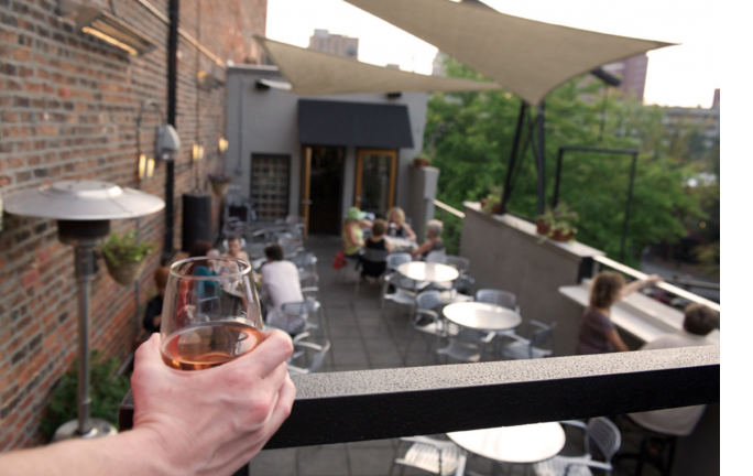 Rooftop Wine Dinner at The Social Lounge, at WNCAP Raise Your Hand Auction