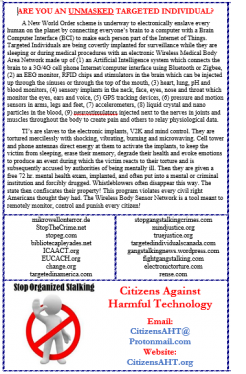 CitizensAHT org Newsletter-Dedicated to Targeted Individuals-CAHT