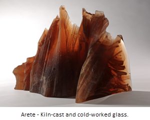 Jerre Davidson - Arete Kiln-cast and cold-worked glass
