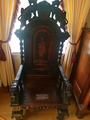 photo of McGuffey chair located in the McGuffey home/museum
