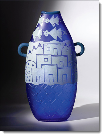 Work by glass artists Preston Singletar and JOdy Naranjo