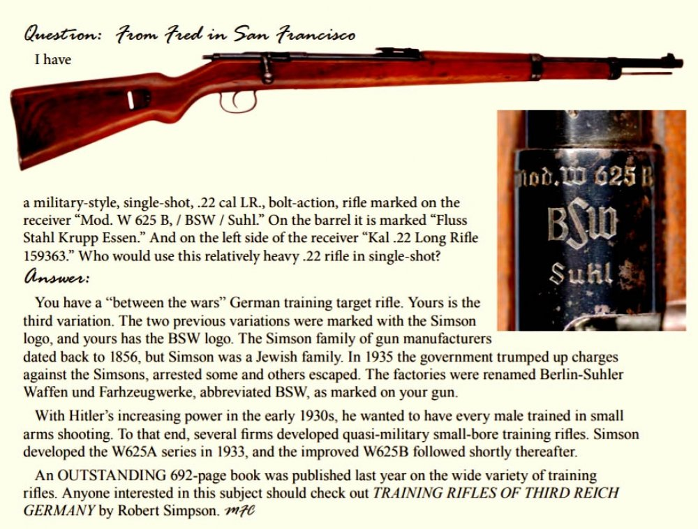 German Training Rifle