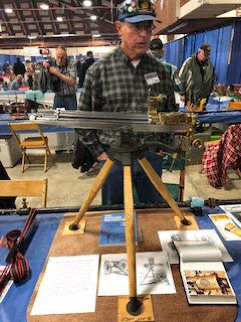 1874 half-size .22LR cal. Gatling Gun