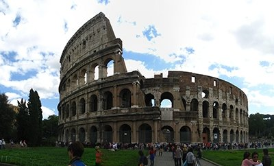 Photo of the Flavian Amphitheatre, also known as the Coliseum