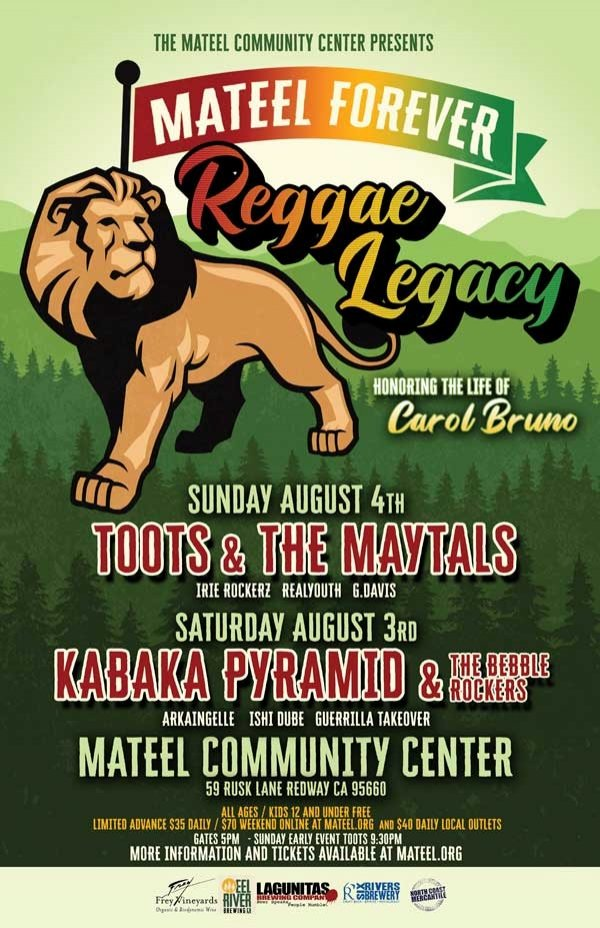 Mateel Forever: Reggae Legacy Two Days of Reggae with Toots & The