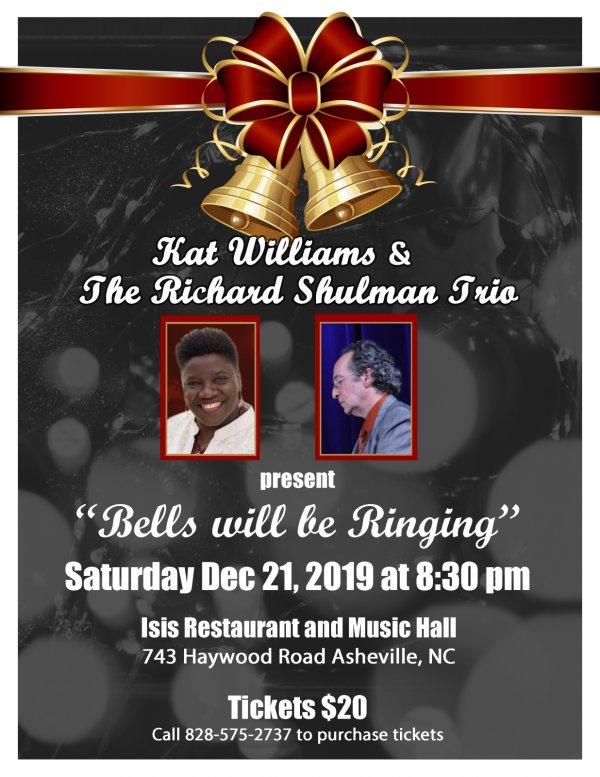 https://isisasheville.com/event/bells-will-be-ringing-kat-williams-the-richard-shulman-trio/