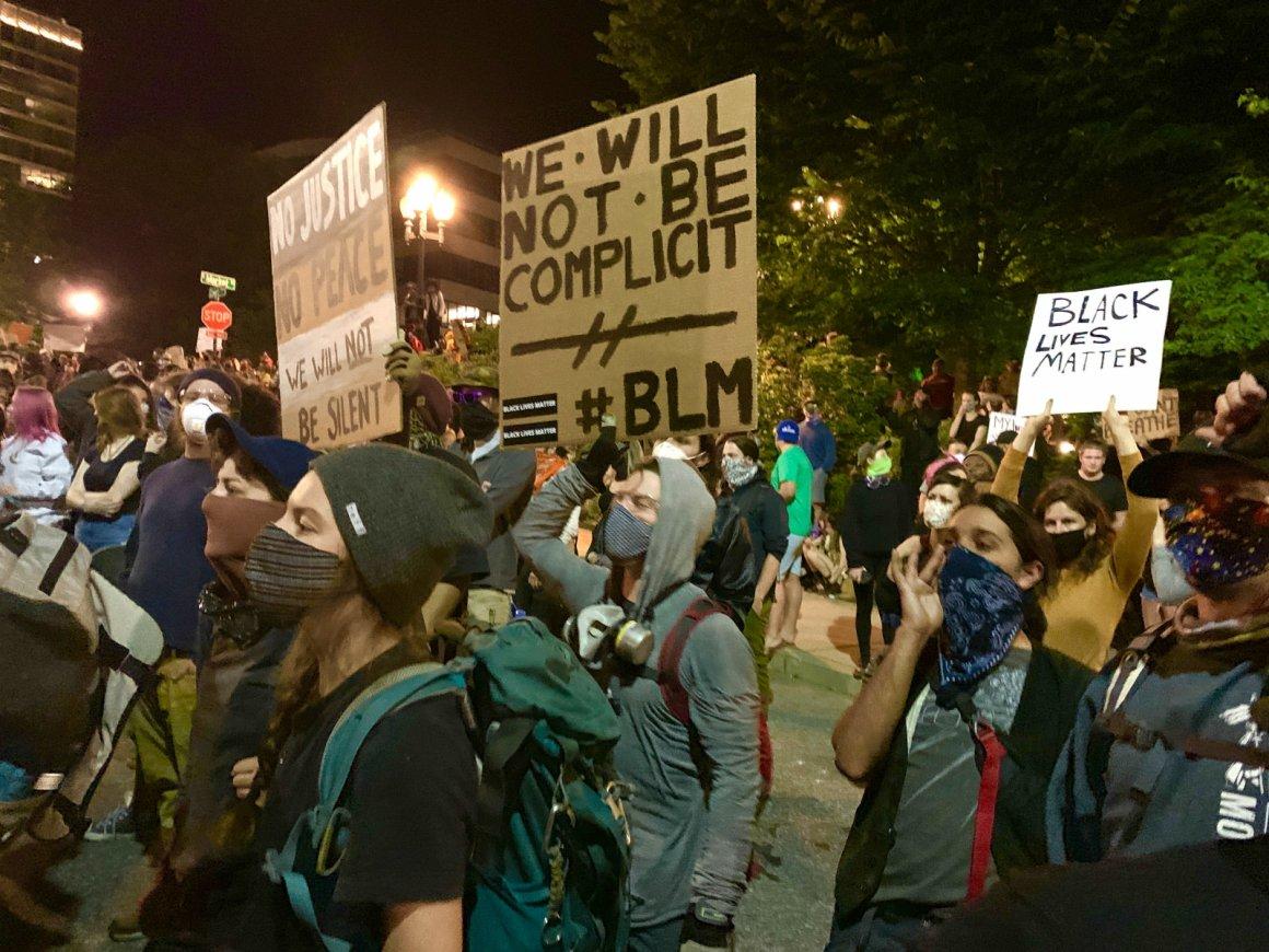 Asheville protests Black Lives Matter